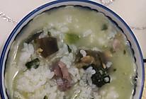 青菜瘦肉皮蛋粥的做法