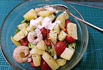 虾仁土豆蔬菜沙拉的做法