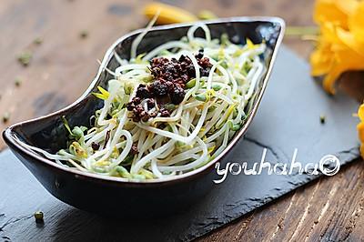 炝拌绿豆芽#自己做更健康#