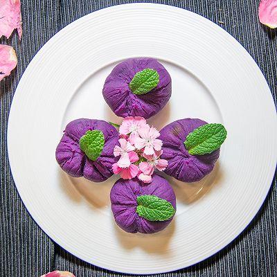 紫薯茶巾绞,轻食美味下午茶