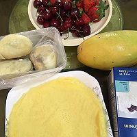 草莓芒果千层蛋糕的做法图解1