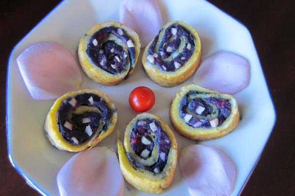 紫薯苹果蛋卷的做法