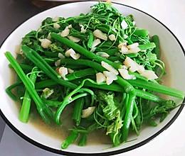 清肠胃之王一一炝炒龙须菜的做法