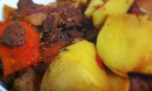 川香土豆烧排骨(无酱油健康版)的做法
