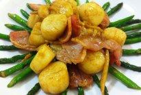 芦笋炒鲜贝的做法