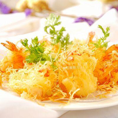 节日宴客菜——金丝凤尾虾