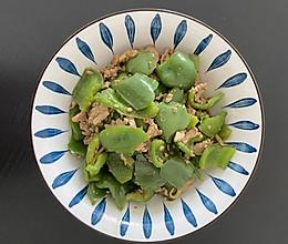 柿子椒炒肉的做法