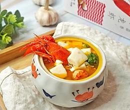蒜香龙虾豆腐羹的做法