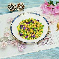 创意菜–紫甘蓝松仁玉米的做法图解9
