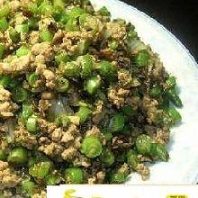 榄菜肉松四季豆