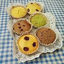 六种口味的马芬蛋糕