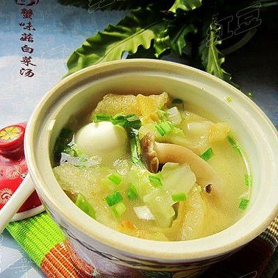 蟹味菇白菜鲜汤