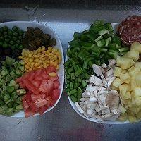 牛油果菠萝香肠焗饭的做法图解2