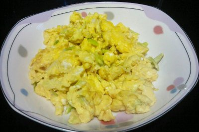 大葱炒鸡蛋