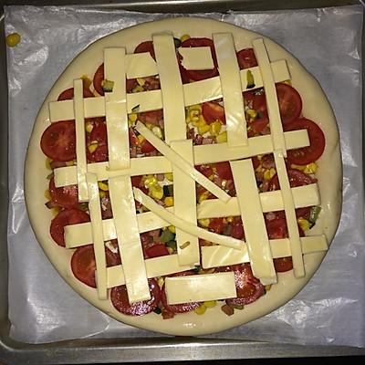 简易芝士披萨(pizza)的做法 步骤6