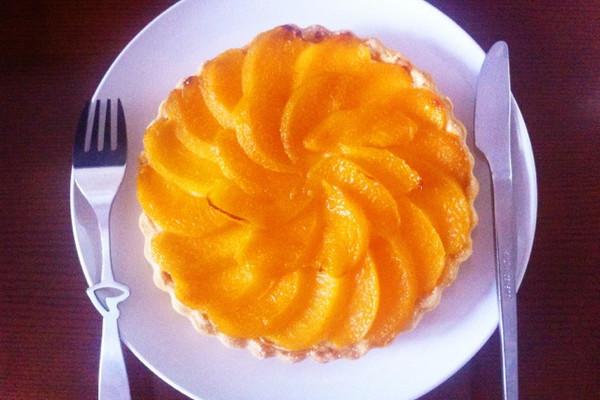 黄桃杏仁乳酪派的做法