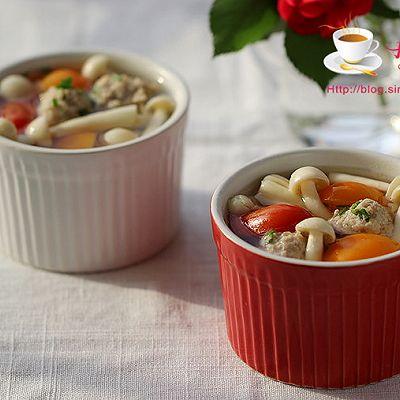 蘑菇番茄肉丸汤