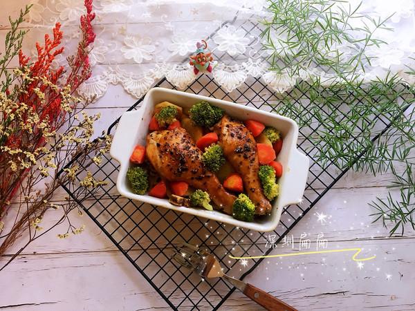 #肉食者联盟#时蔬烤黑椒鸡腿的做法