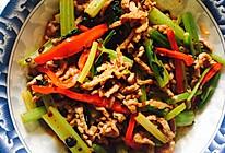 甜椒芹菜肉丝的做法