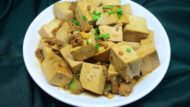 芹菜肉末豆腐的做法