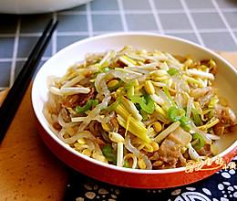 黄豆芽炒蒜黄的做法
