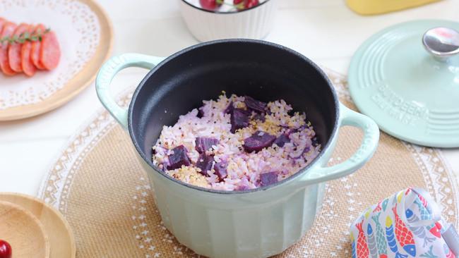 紫薯藜麦饭的做法
