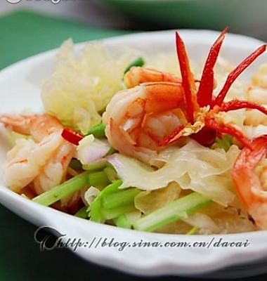 泰式银耳沙拉虾的做法