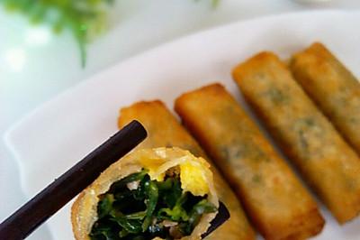 卷起来的美味の荠菜春卷