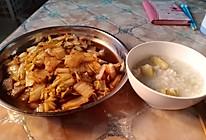 酸辣白菜帮vs红薯粥的做法