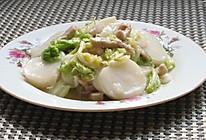 白菜肉丝炒年糕#急速早餐#的做法