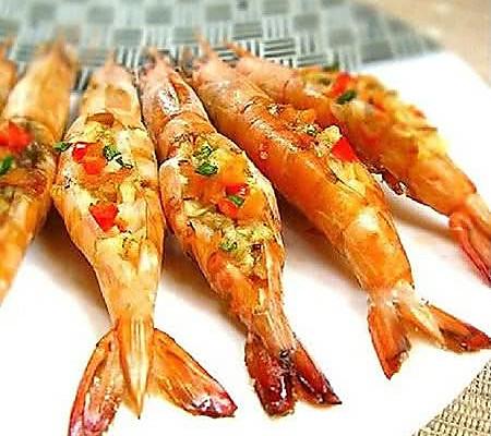 蒜香烤大虾的做法