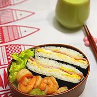 御不握(米饭三明治)#急速早餐#的做法图解8
