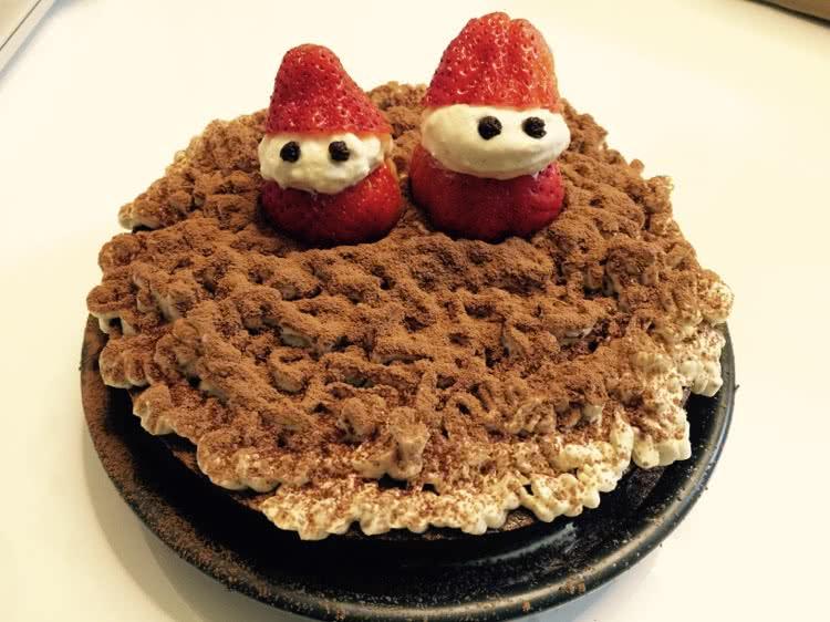可爱两个小人图片蛋糕