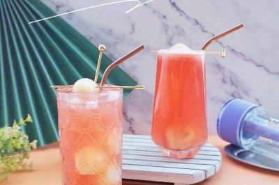 荔枝西瓜气泡果汁