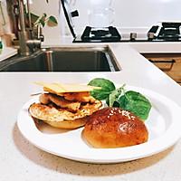 #321沙拉日#鸡肉小汉堡的做法图解5