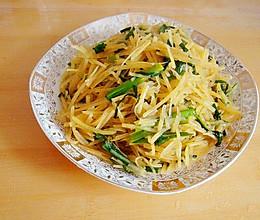 韭菜炒土豆丝的做法