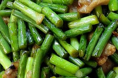 快手菜之蒜苔炒五花肉