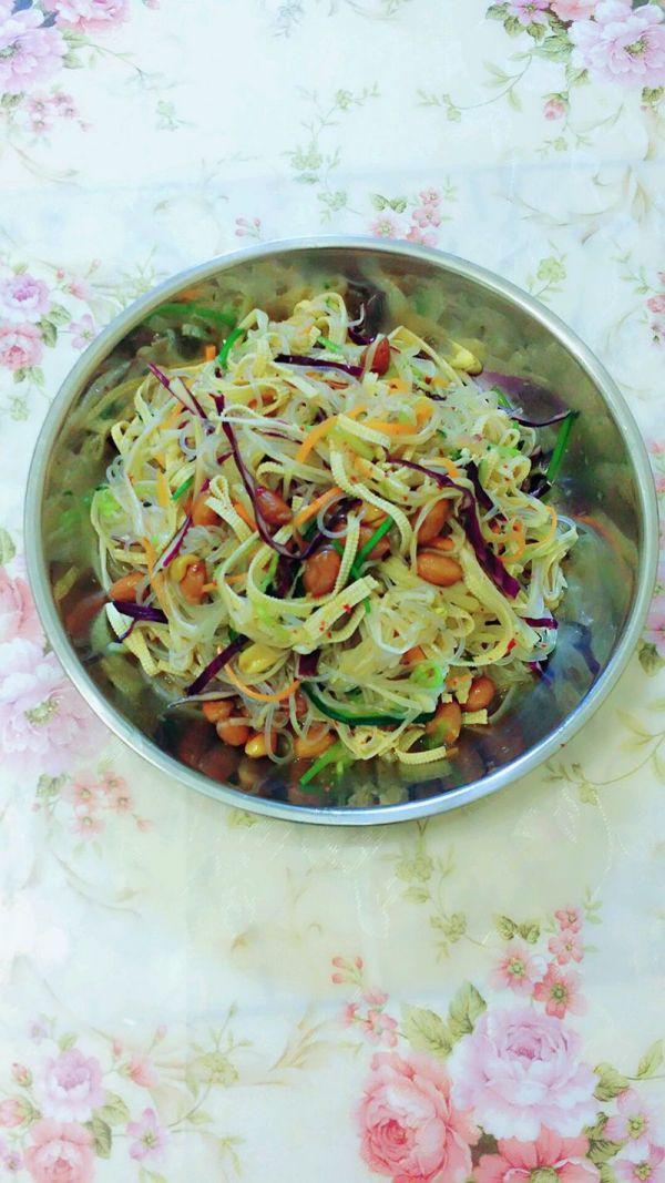凉拌花菜的做法