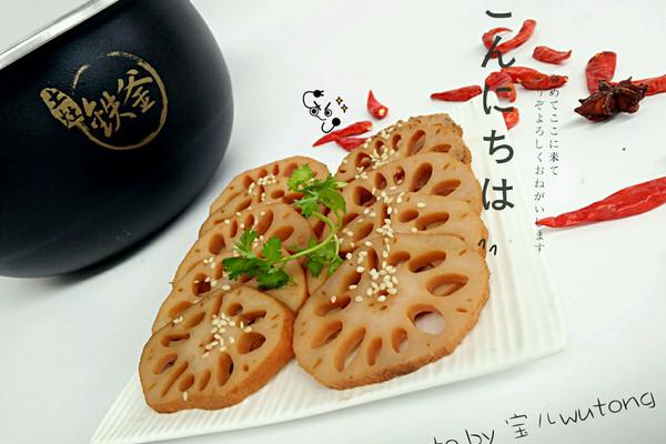 香辣卤藕片#铁釜烧饭就是香#的做法_【图解】香辣卤藕