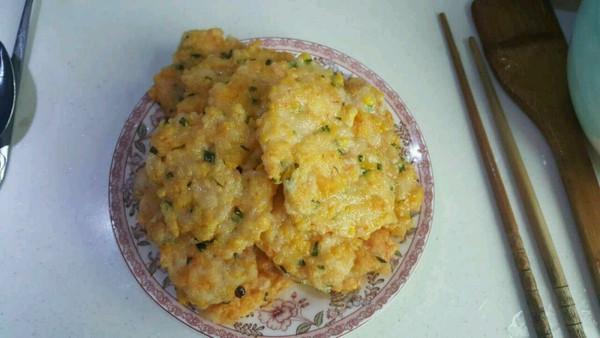 青妈咪之黄金鲜虾饼的做法