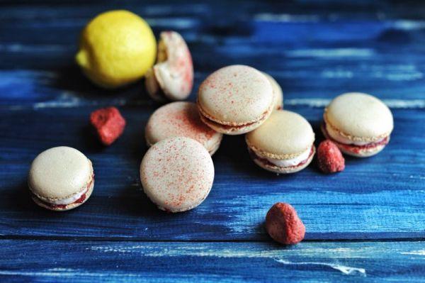初夏的果实-意式树莓马卡龙