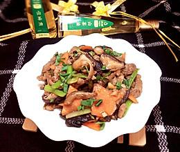 香菇炒肉#沃康山茶油#的做法
