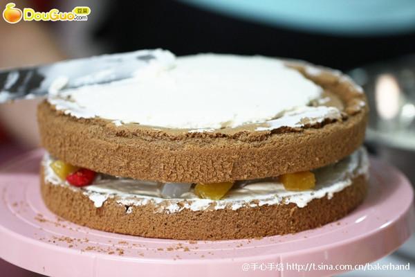 8寸可可戚风蛋糕的做法