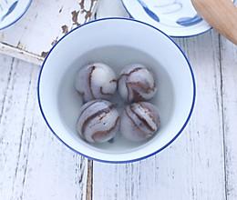 #元宵节美食大赏#大理石黑芝麻汤圆的做法