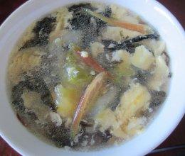 昙花紫菜鸡蛋汤的做法