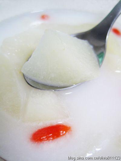 椰奶秋梨的做法