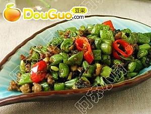 榄菜肉碎四季豆的做法的做法