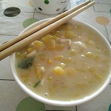 咸香鸡丝南瓜汤