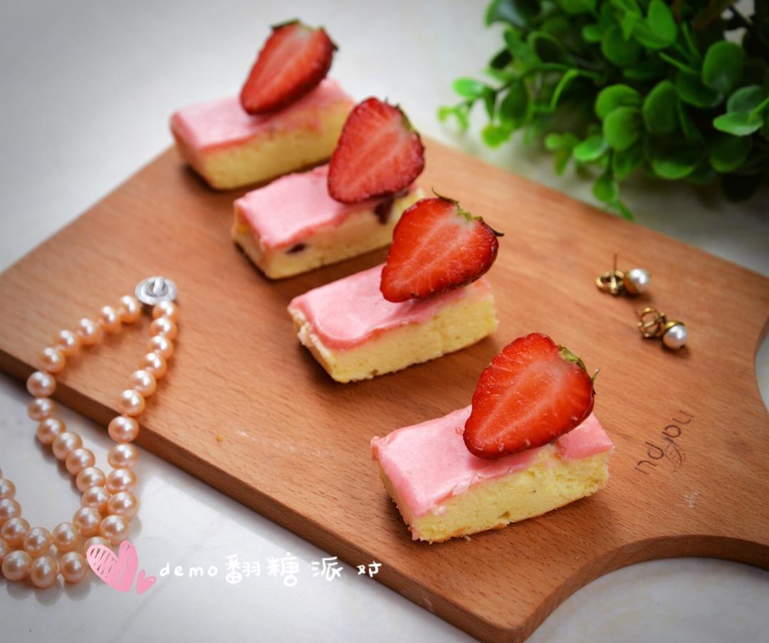 草莓芝士蛋糕#豆果5周年图片