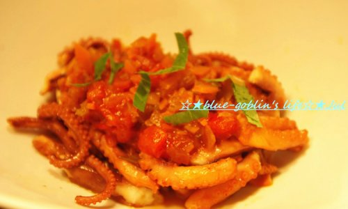 意式风味,番茄炖墨鱼的做法